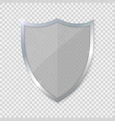 glass shield vector image