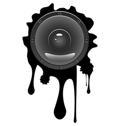 Grunge Audio Speaker vector image