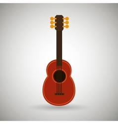 Guitar isolated design vector