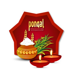happy pongal background vector image
