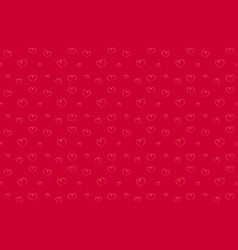 hearts seamless pattern hand drawn red background vector image