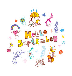 hello september vector image