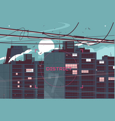 high-rise building vector image