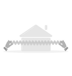 home insurance symbol real estate vector image
