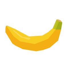 Isolated geometric banana vector