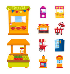 Isolated object and booth icon collection of vector
