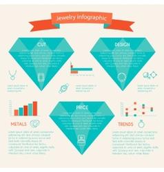 Jewelry icon infographic vector image