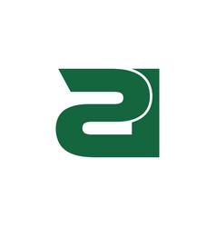 Letter 2d simple logo vector