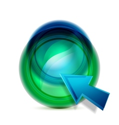 liquid button vector image