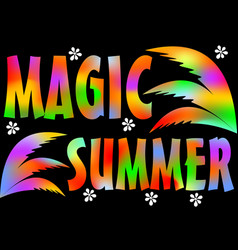magic summer beach party magic summer vacation vector image