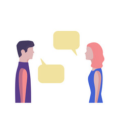 Man and woman chatting flat style vector