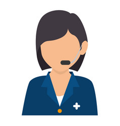 medical call center agent vector image