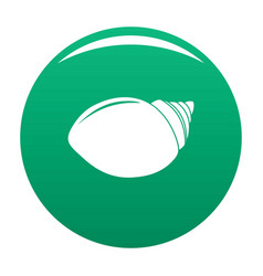 Mollusks shell icon green vector