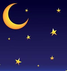 moon whit stars vector image