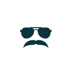 mustache icon simple barbershop vector image