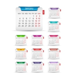 New year 2016 calendar design vector image