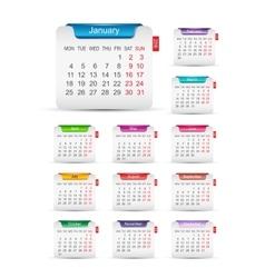 New year 2016 calendar design vector image