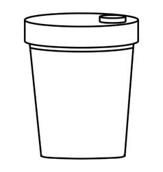 Paper glass icon outline style vector