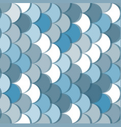 Paper scales seamless squama blue pattern vector