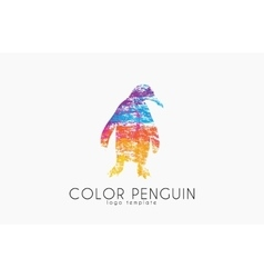 Penguin logo Color penguin design Creative logo vector image