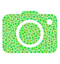 Photo camera collage of dots vector