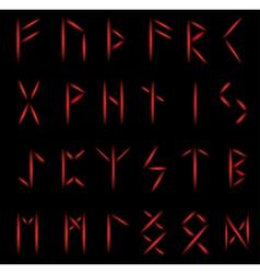 Runes fire vector image