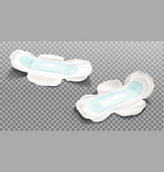 Sanitary napkin isolated on transparent background vector