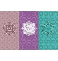 set of templates packaging vector image