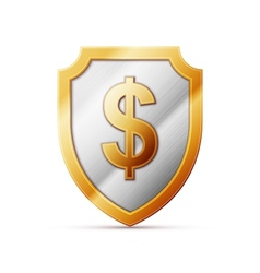 shield with dollar sign vector image