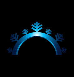 Snowflake sign blue snowflake icon isolated on vector
