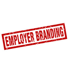 Square grunge red employer branding stamp vector