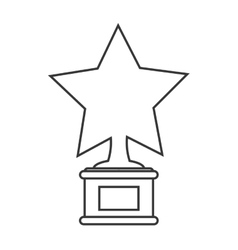 Star trophy winner cinema design vector