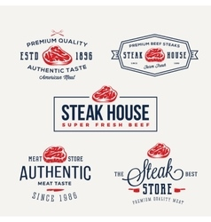 Steak House or Meat Store Vintage Typography vector