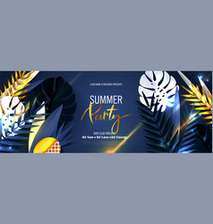 Summer party bannerbeautiful background vector