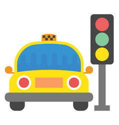 Taxi stop flat icon vector