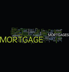The best mortgage deal ever text background word vector