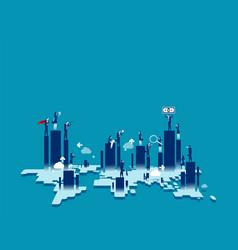 Trade and economy around world concept vector