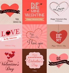 valentine cards vector image