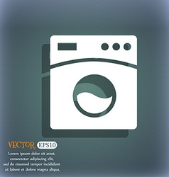 Washing machine icon On the blue-green abstract vector