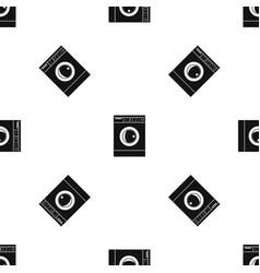 Washing machine pattern seamless black vector