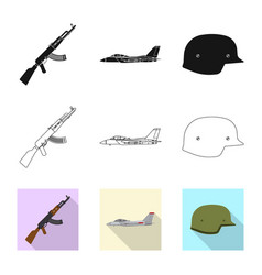 Weapon and gun sign set of vector
