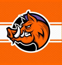 wild boar logo vector image