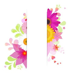Flower Background With Gerbers vector image