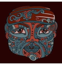 hand drawn ethnic head vector image