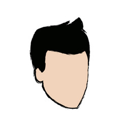 head guy cartoon young people profile vector image vector image