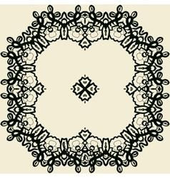 Outlined stylized mandala print vector image