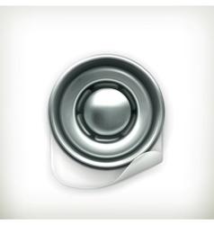 Snap fastener icon vector image vector image