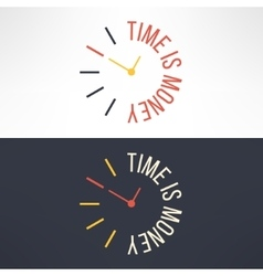 time is money concept design Clock with vector image vector image