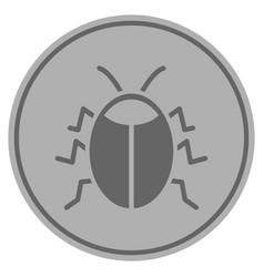 Bug silver coin vector