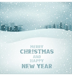 Christmas winter day vector image vector image